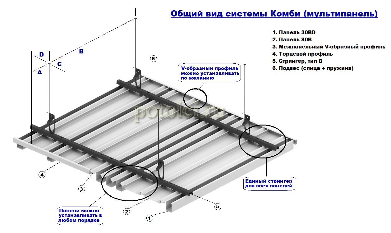 Реечный потолок своими руками бард