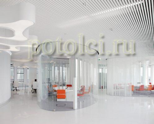 Подвесные реечные потолки, бренд Luxalon.