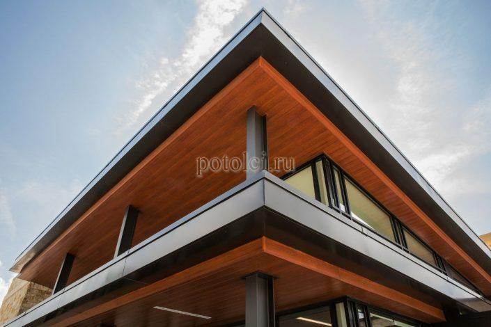 Реечный фасад Luxalon