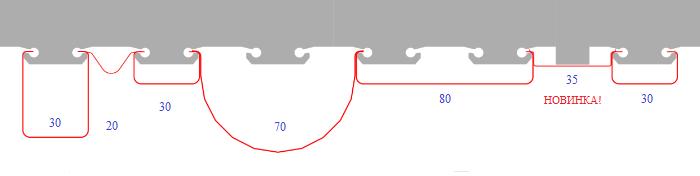 Модуль кубообразного реечного потолка