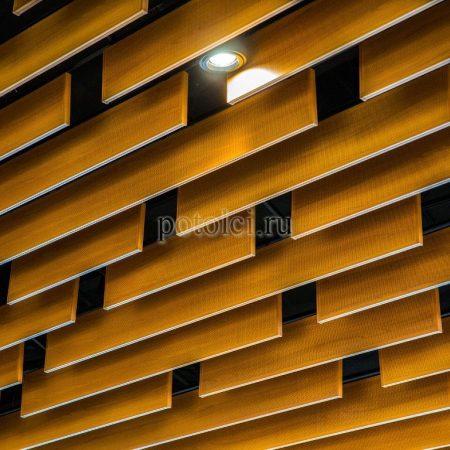 Кубообразные реечные потолки МультиКуб Бард