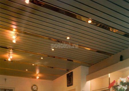 Реечный подвесной потолок тип H Cesal