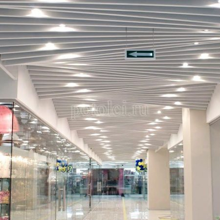 Реечный потолок Cesal Art тип L