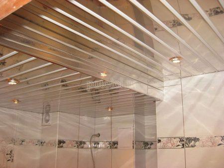 Реечный подвесной потолок тип S Cesal