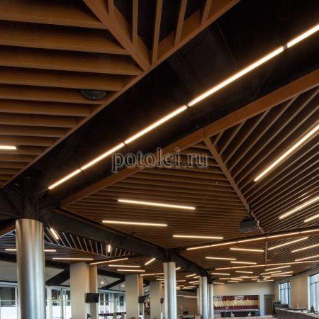 Реечные потолки Кубообразный дизайн Албес