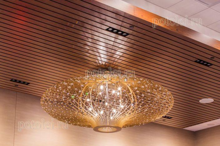 Алюминиевый реечный потолок Luxalon