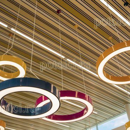 Реечный подвесной потолок тип В Luxalon