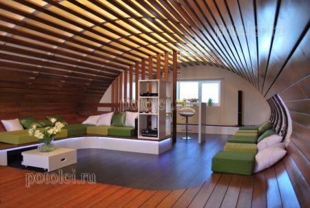 Деревянные потолки Открытого типа Luxalon