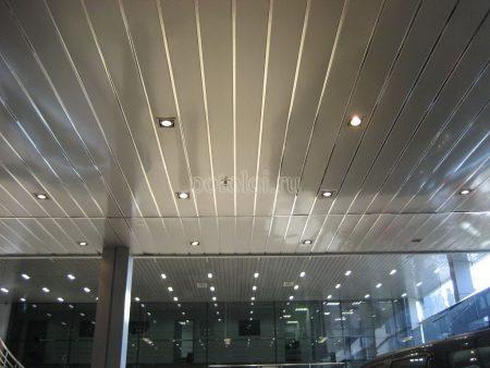 Подвесной реечный потолок Албес