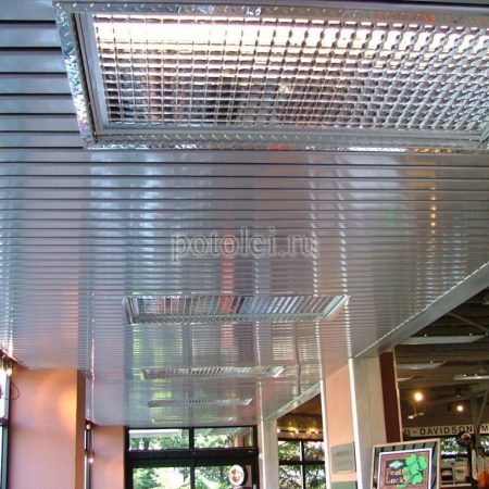Реечные подвесные потолки S-дизайн Албес