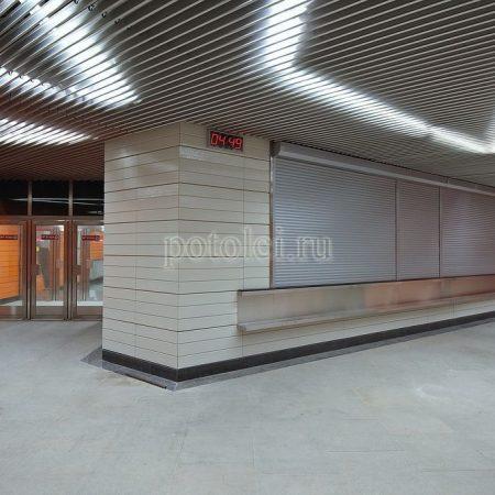 Экранный реечный потолок тип V Luxalon