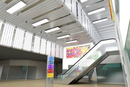 Радиусные подвесные реечные потолки