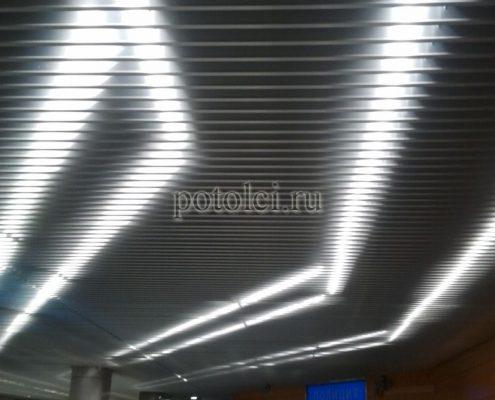Подвесной реечный потолок тип V-100 Люксалон