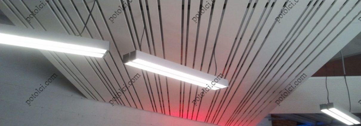 Мультипанельные реечные потолки Luxalon
