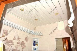 Реечный потолок в ванной, ППР-084