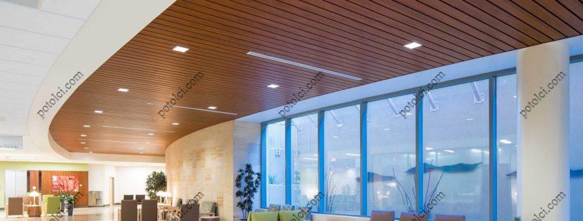 Подвесные реечные потолки со светильниками