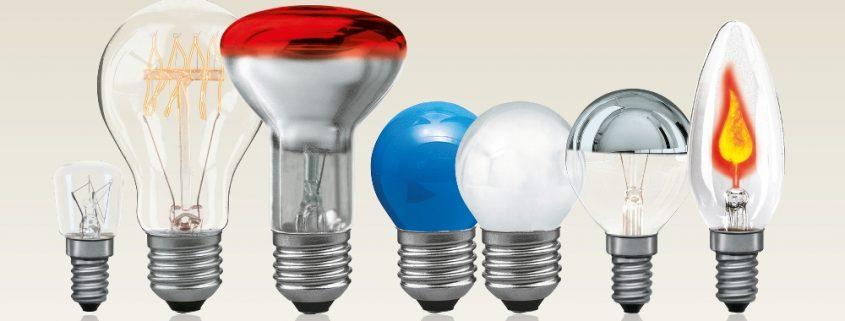 Виды ламп для светильников
