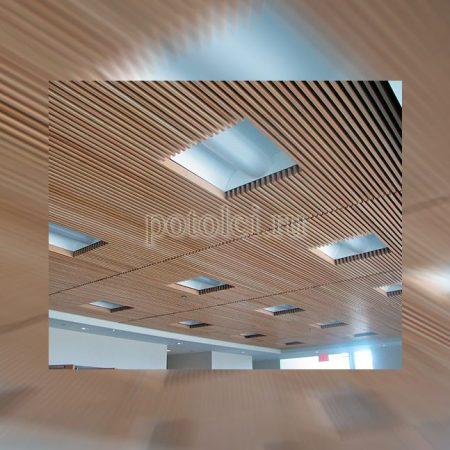 Кубообразный реечный потолок Cesal