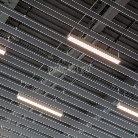 Реечный потолок пластинообразная рейка