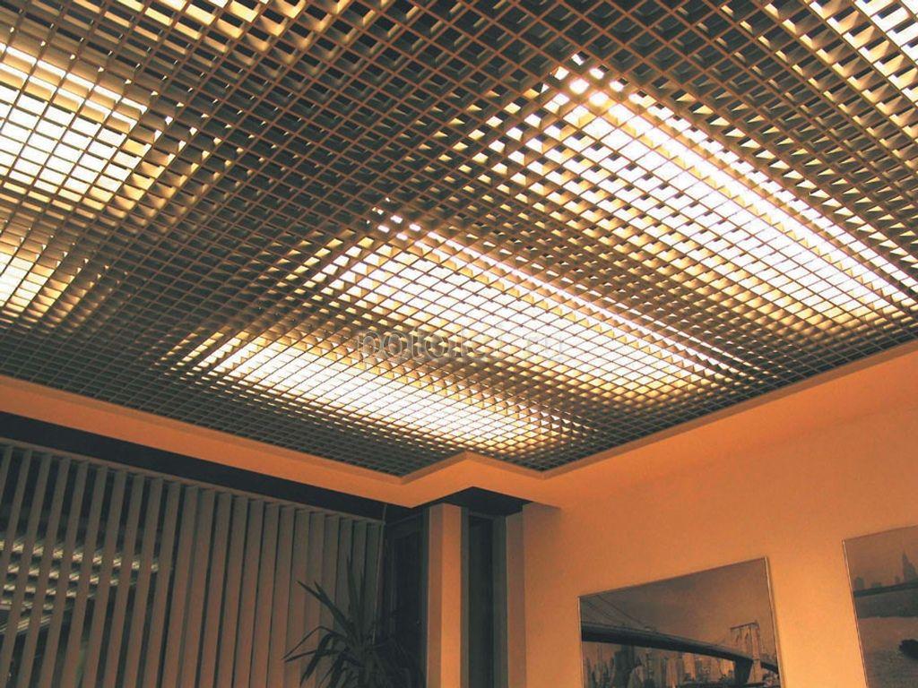 подвесные решетчатые потолки фото всем многообразии классического