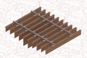 Реечный подвесной потолок Экран БАРД