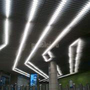 Подвесной реечный потолок Экран Luxalon