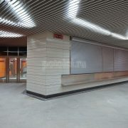 Экранный реечный подвесной потолок Люксалон
