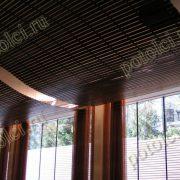 Деревянный реечный потолок Luxalon Люксалон