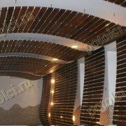 Подвесные деревянные реечные потолки, дерево - Мербау. Проект нашей компании