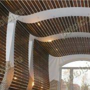 Подвесные реечные деревянные потолки из Мербау