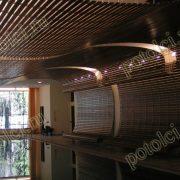 Оформление потолка бассейна в частном доме поселка Барвиха, Luxalon