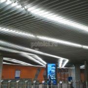 Алюминиевый реечный потолок V-100 Luxalon
