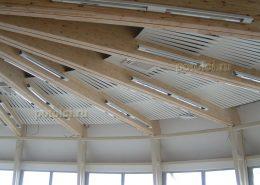 Потолок алюминиевый реечный Luxalon, тип 84R