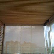 Деревянный реечный потолок Грид