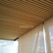 Деревянный реечный потолок из древесины Кото