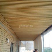 Деревянный реечный потолок из экзотического дерева Кото