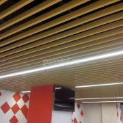 Кубообразный подвесной реечный потолок