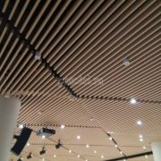 Кубообразный реечный потолок Униформ, панель 30/85, цвет Молочный дуб