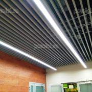 Кубообразный реечный потолок серого цвета 30/80 БАРД
