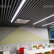 Реечные потолки МультиКуб 30/80 в офисе Яндекс