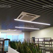 Реечный потолок МультиКуб в кафе Яндекса