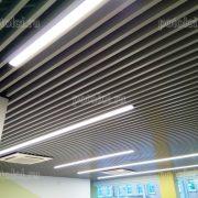 Дизайнерские реечные потолки БАРД МультиКуб 30/80, цвет серый