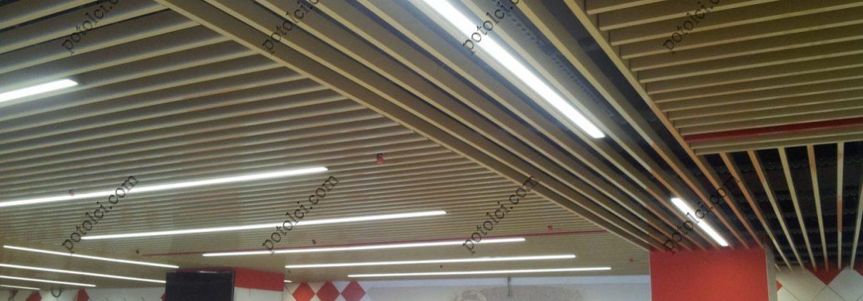 Подвесные реечные потолки в метро