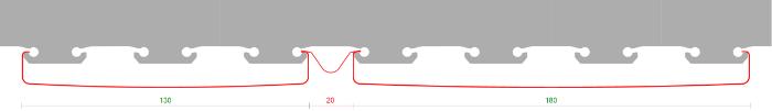 Модуль потолка Комби 130+20+180