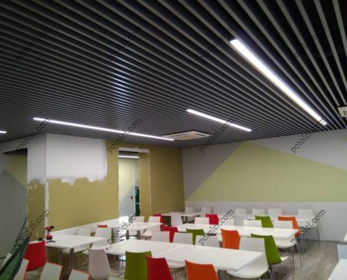 Реечные потолки кубообразного дизайна