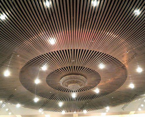 Подвесные радиусные реечные потолки