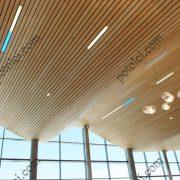 Деревянные реечные потолки Люксалон Эффект волны