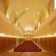 Деревянные реечные потолки Люксалон волнообразной формы