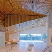 Деревянные реечные потолки Люксалон в музее