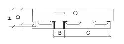 Реечный потолок Cesal Н-дизайн
